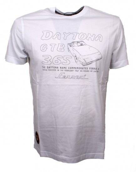 Ferrari 365GTB Daytona S/S tričko biele